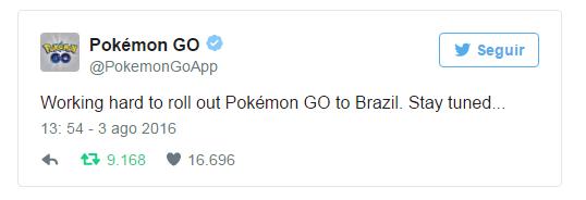 pokemon go no Brasil